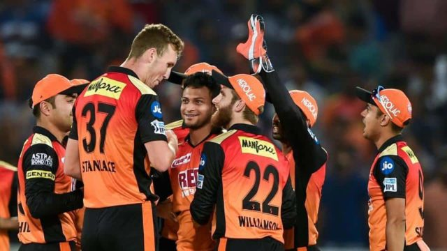 Sunrisers Hyderabad celebration