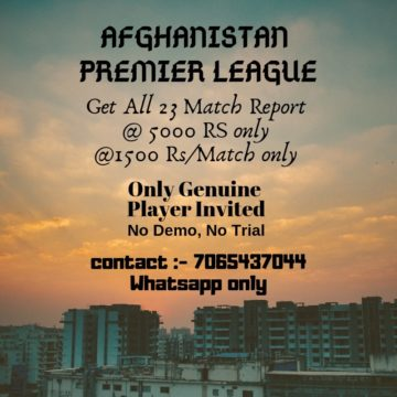 Afghanistan Premier League Package