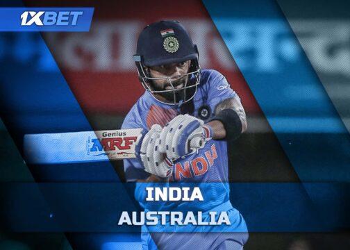 1xbet India vs Australia 3