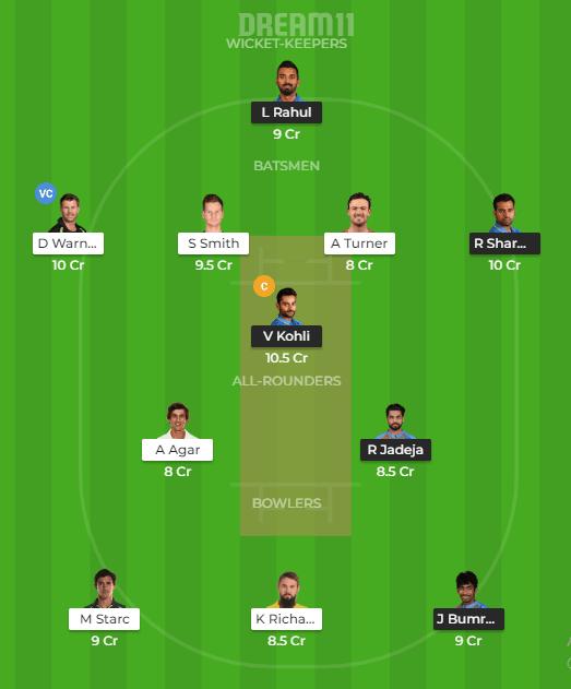 India vs Australia 2nd ODI Dream11 Prediction
