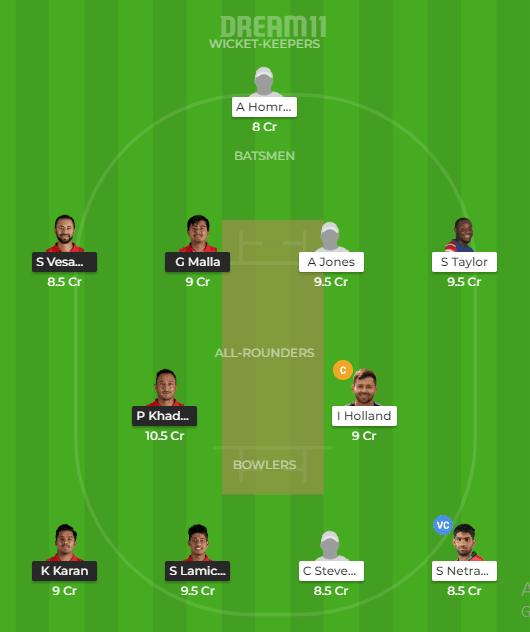 Nepal vs USA Dream11 Team Prediction