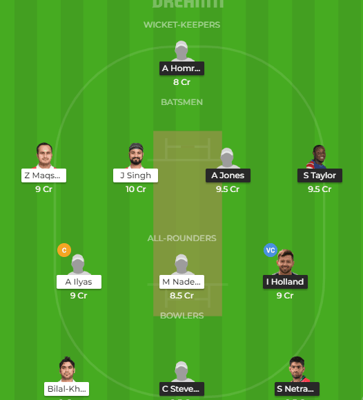 USA vs Oman Dream11 team prediction