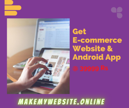Get E-commerce Website And Android App
