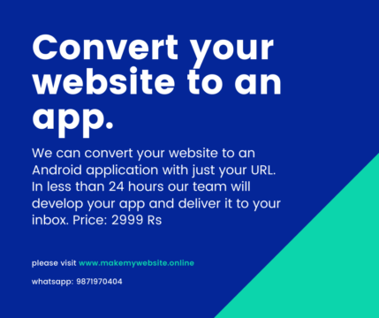 Convert Your Website Into App