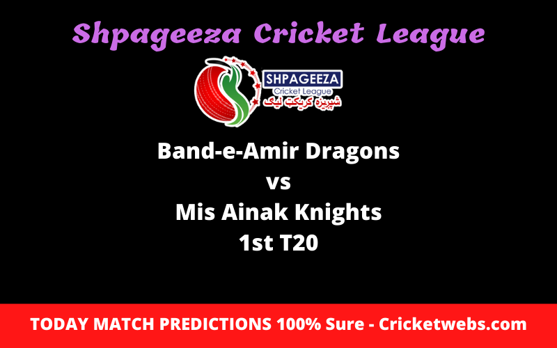 Who Will Win Band-e-Amir Dragons vs Mis Ainak Knights 1st T20-SCL Prediction