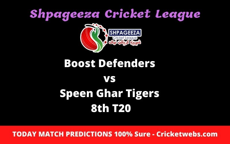 Who Will Win-Boost Defenders vs Speen Ghar Tigers-8th T20-SCL Prediction