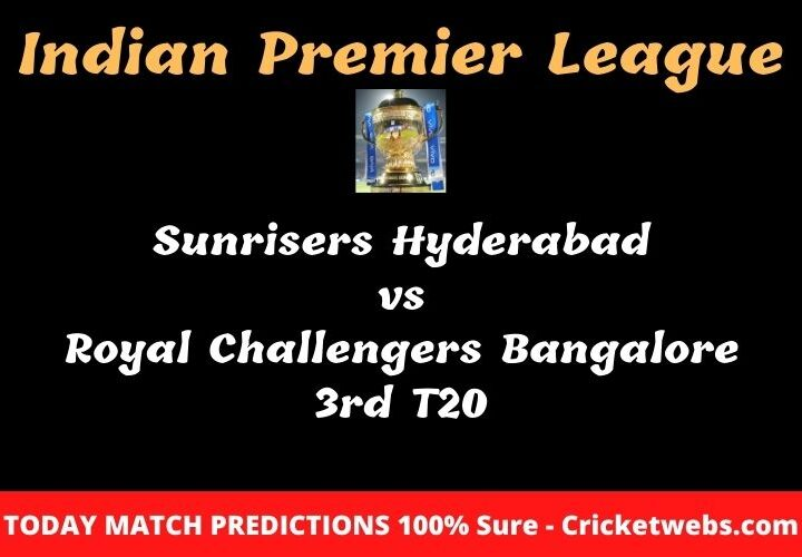 SRH vs RCB Match Prediction