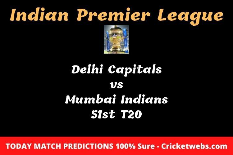 Delhi Capitals vs Mumbai Indians 51st T20 Match Prediction
